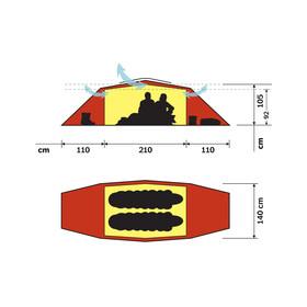 Hilleberg Tarra - Tente igloo - rouge/jaune